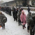60.000 refugiados bajo la ola de frío polar